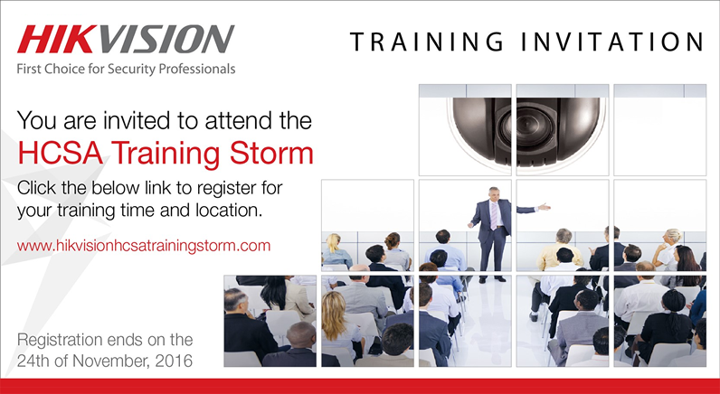 Register now for Hikvision MENA's HCSA Training Storm